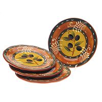 Certified International French Olives 4-pc. Salad Plate Set