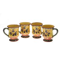 Certified International French Olives 4-pc. Mug Set
