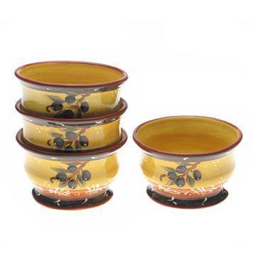 Certified International French Olives 4-pc. Ice Cream Bowl Set