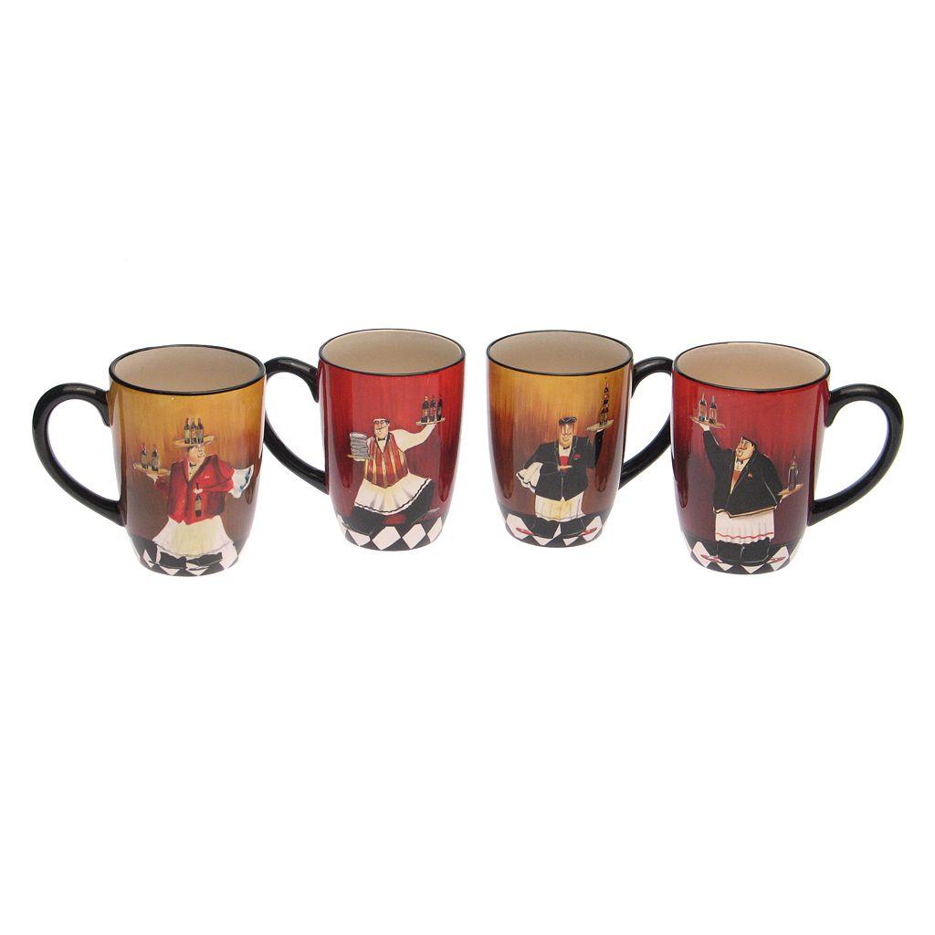 Certified International Bistro 4-pc. Mug Set