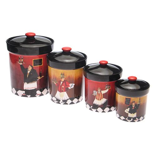 Certified International Bistro 4-pc. Kitchen Canister Set