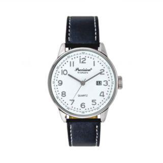 Precision by Gruen Men's Leather Watch