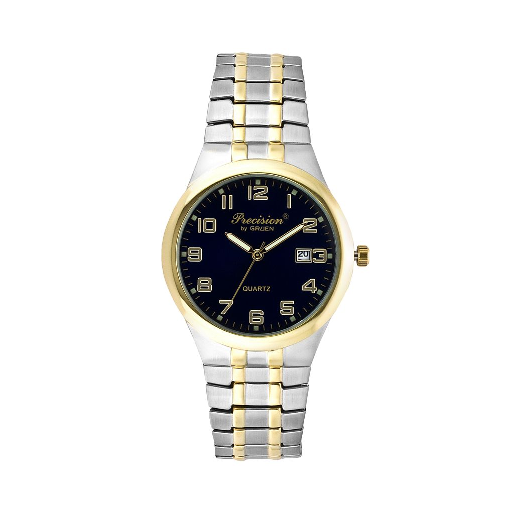 Precision by Gruen Men's Two Tone Expansion Watch