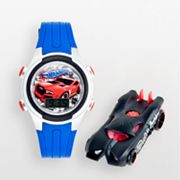 Hot Wheels Silver Tone Digital Watch - Kids