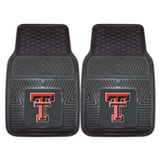 FANMATS 2-pk. Texas Tech Red Raiders Vinyl Car Floor Mats