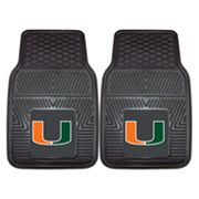FANMATS 2-pk. Miami Hurricanes Car Floor Mats