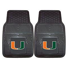 FANMATS 2-pk. Miami Hurricanes Vinyl Car Floor Mats