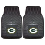 FANMATS 2 pkGreen Bay Packers Car Floor Mats