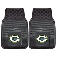 FANMATS 2 pkGreen Bay Packers Car Floor Mats