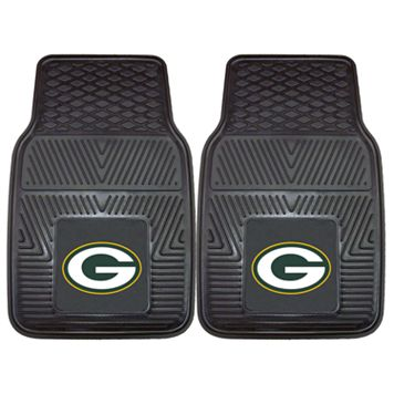 FANMATS 2-pk. Green Bay Packers Car Floor Mats