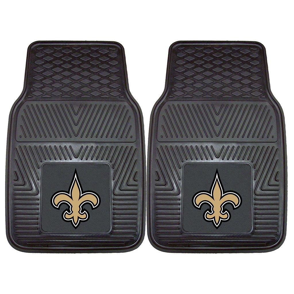 FANMATS 2-pk. New Orleans Saints Car Floor Mats