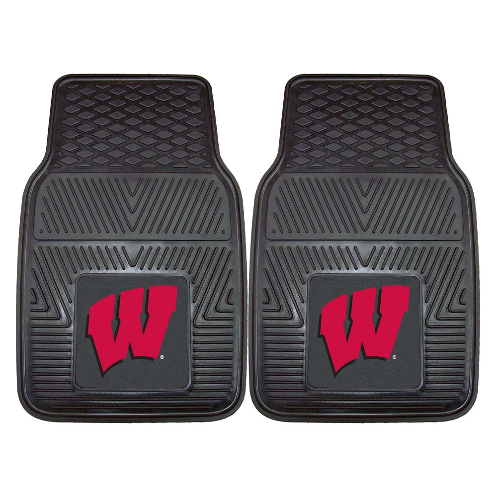 FANMATS 2-pk. Wisconsin Badgers Car Floor Mats
