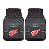 FANMATS 2 pkDetroit Red Wings Vinyl Car Floor Mats
