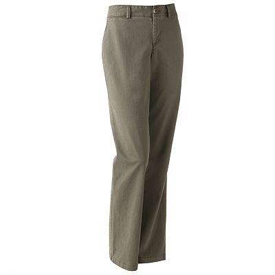 Dockers Oh My Soft Khaki Slimming Straight-Leg Pants