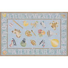 Momeni Lil Mo Classic Alphabet Rug - 4' x 6'