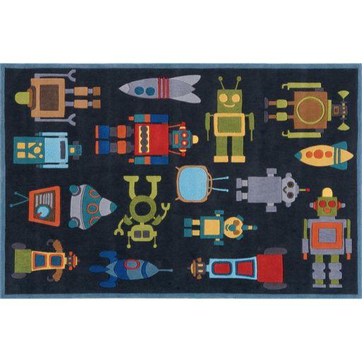 Momeni Lil Mo Whimsy Robot Rug - 24'' x 36''
