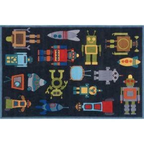 Momeni Lil Mo Whimsy Robot Rug - 4' x 6'