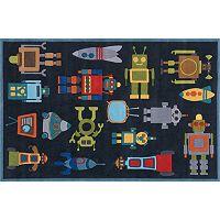 Momeni Lil Mo Whimsy Robot Rug - 5' x 7'