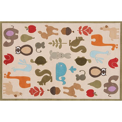 Momeni Lil Mo Whimsy Animal Rug - 4' x 6'