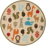 Momeni Lil Mo Whimsy Animal Rug - 5' Round