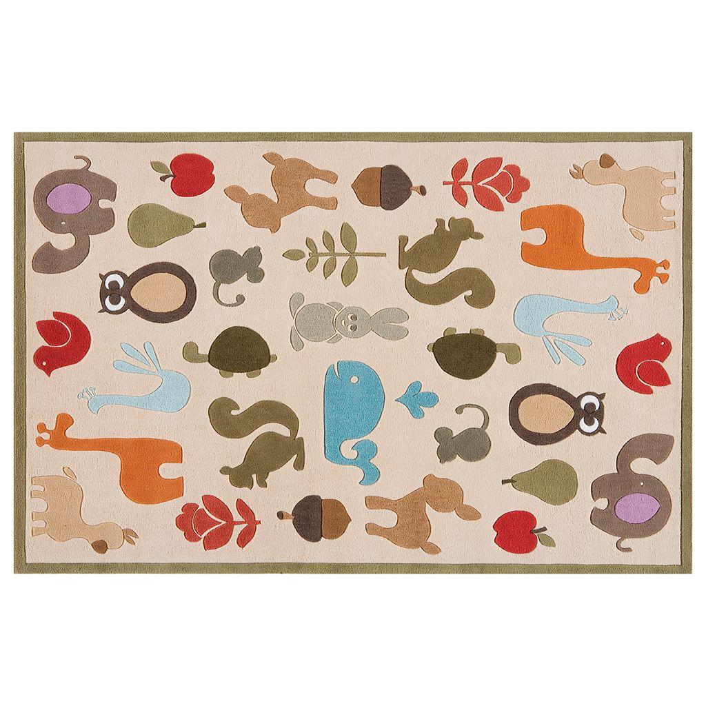 Momeni Lil Mo Whimsy Animal Rug - 5' x 7'