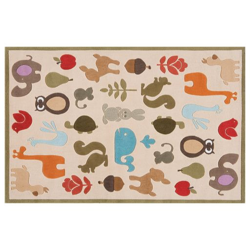 Momeni Lil Mo Whimsy Animal Rug - 5' x 7'