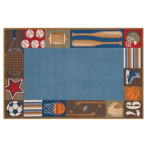 Momeni Lil Mo Whimsy Sports Rug – 5′ x 7′