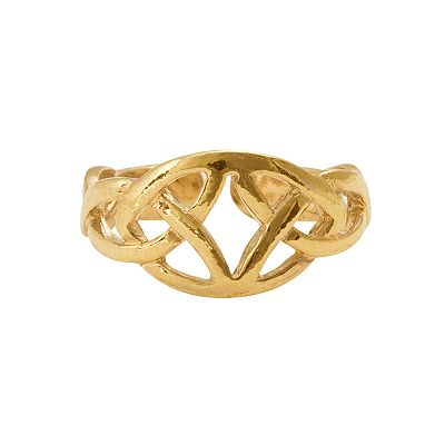 18k Gold-Over-Silver Celtic Toe Ring
