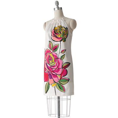 Suite 7 Floral Halter Shift Dress