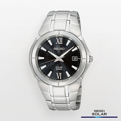 Seiko Solar Stainless Steel Watch - Men