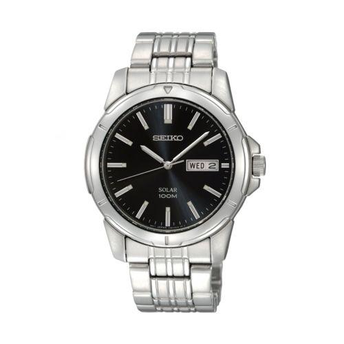 Seiko Solar Stainless Steel Watch - Men