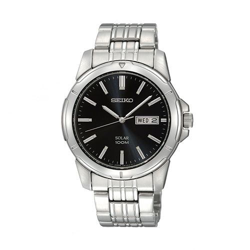 Seiko Men's Stainless Steel Solar Watch - SNE093