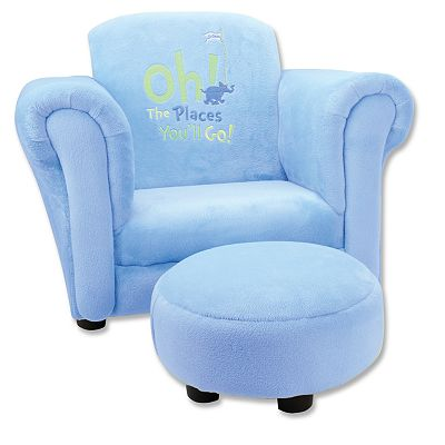 Trend Lab Dr. Seuss Oh The Places You'll Go! Chair and Ottoman Set