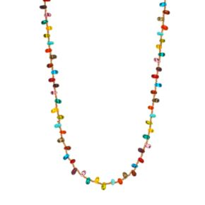 Mudd® Gold-Tone Glass Beaded Long Necklace
