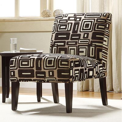 HomeVance Geometric Accent Chair