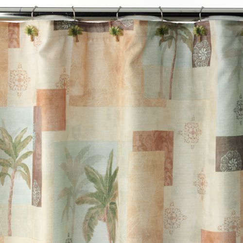 Bacova Palm Collage Fabric Shower Curtain