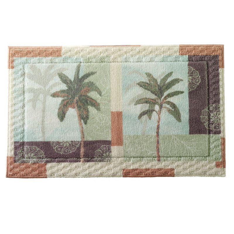 Border leaf design rug kohl 39 s for International decor bath rugs