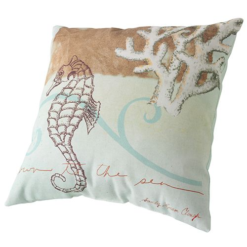 Decorative Pillows At Kohls : Seahorse Decorative Pillow