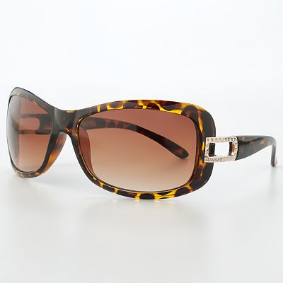 Unionbay Animal Printed Rectangular Sunglasses