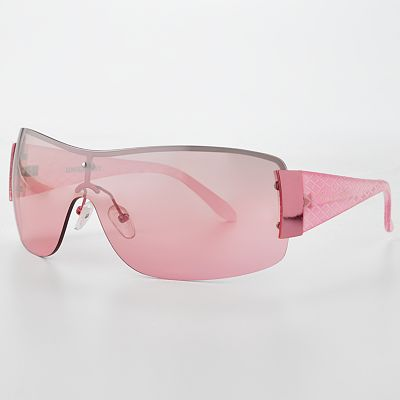 Unionbay Textured Semirimless Shield Sunglasses