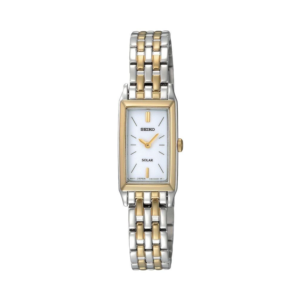 Seiko Women's Two Tone Stainless Steel Solar Watch - SUP028