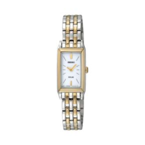 Seiko Women's Two Tone Stainless Steel Solar Watch - SUP028