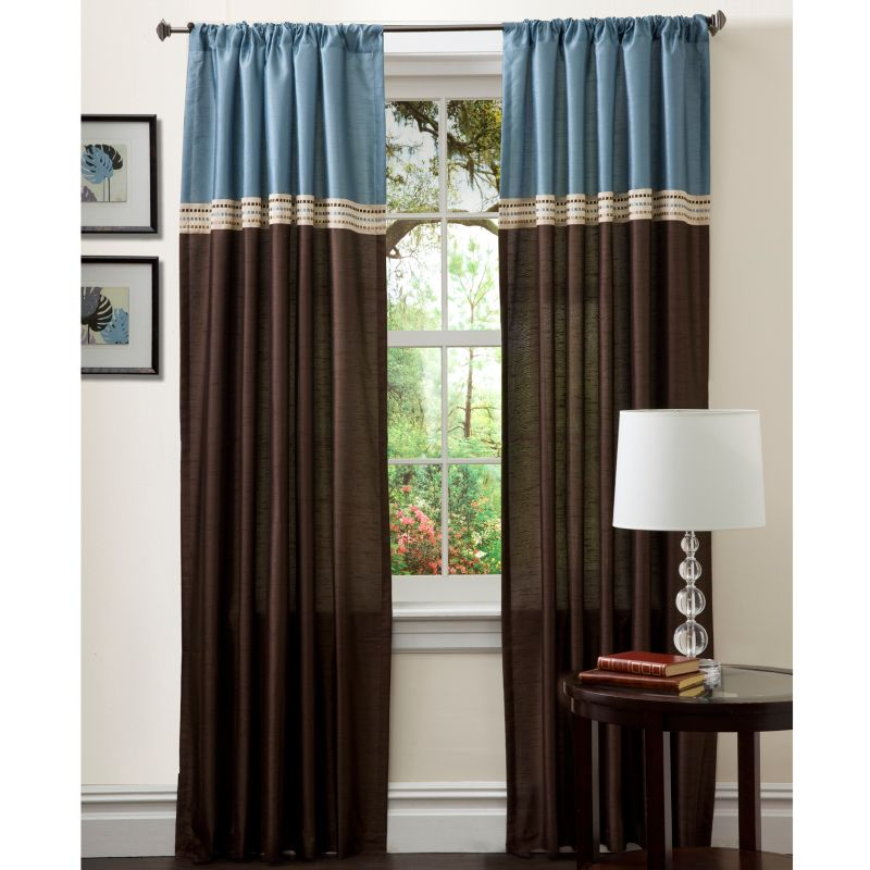 "Lush Decor 2-pack Terra Window Curtains - 54"" x 84"", Blue"
