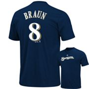 Majestic Milwaukee Brewers Ryan Braun Tee - Big and Tall