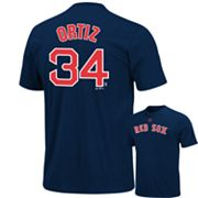 Majestic Boston Red Sox David Ortiz Tee - Big and Tall
