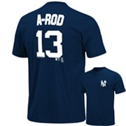 Majestic New York Yankees Alex Rodriguez Tee - Big and Tall