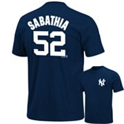 Majestic New York Yankees C.C. Sabathia Tee - Big and Tall