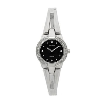 Seiko Women's Tressia Stainless Steel Solar Half-Bangle Watch - SUP205