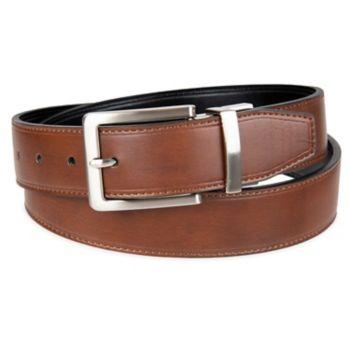 Men's Croft & Barrow® Soft Touch Stitched Reversible Belt