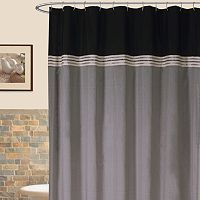 Lush Decor Terra Striped Fabric Shower Curtain